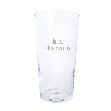 Just the one pint glass