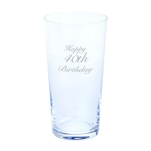 Dartington Just For You - Happy 40th Birthday Pint Glass