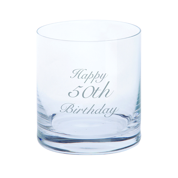Dartington Just For You - Tumbler 50th Birthday