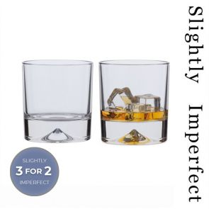 Dimple Double Old Fashioned Whisky Glasses - Slightly Imperfect | Set of 2