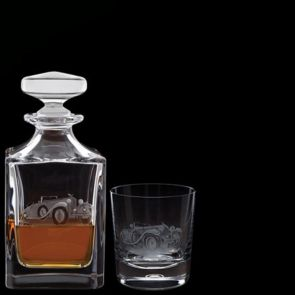 Engraved Bentley Decanter & One Engraved Bentley Tumbler