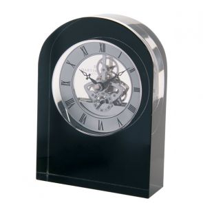 Black Curve Crystal Clock