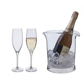 2 Wine Master Champagne Flutes & Cooler