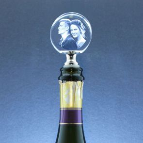 Circular Laser Photo Wine Stopper - Standard delivery will be 3 working days.