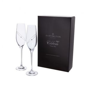 Glitz Celebration Flutes Pair - Clear