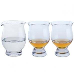 Two Connoisseur Whisky Glasses and a Water Jug