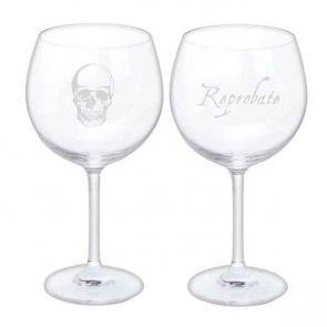 Jeffery West Wine Glass, Set of 2 - Skull & Reprobate