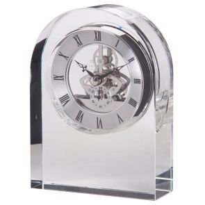 Clear Curve Crystal Clock