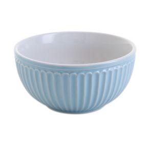 Dartington Ribbed Sky Blue Bowl