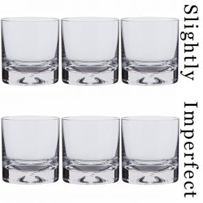 3 Pairs of Dimple Old Fashioned Whisky Glasses - Slightly Imperfect
