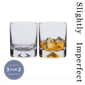 Dimple Old Fashioned Whisky Glasses - Slightly Imperfect | Set of 2