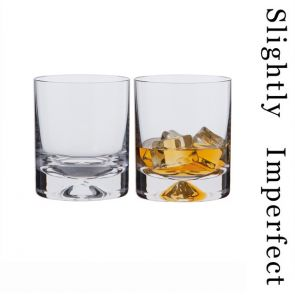 Dimple Old Fashioned Whisky Glasses - Slightly Imperfect