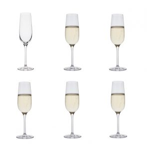 Flute Champagne Glasses 6 pack - Drink!