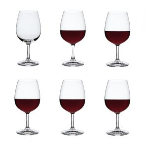 Red Wine Glasses 6 Pack - Drink!
