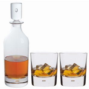 Exmoor Decanter & Double Old Fashioned Whisky Glass Pair - Packaged in a presentation box