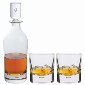 Exmoor Decanter & Old Fashioned Whisky Glass Pair - Packaged in a presentation box