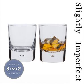 Exmoor Double Old Fashioned Whisky Glasses - Slightly Imperfect
