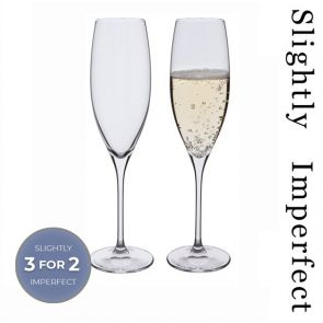 Wine Master Flute Champagne Glass, Set of 2 - Slightly Imperfect