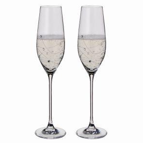 Glitz Champagne Flute Glasses