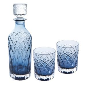 Harris Decanter and Tumbler Gift Set | Ink Blue