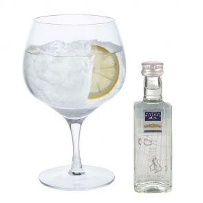 Gin Copa Glass and 50ml Miniature Gift Set