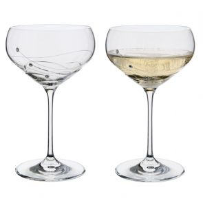 Glitz Champagne Saucer Glasses