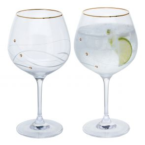Glitz Gold Gin & Tonic Copa, Set of 2
