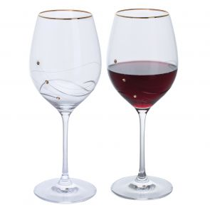 Glitz Gold Goblet Wine Glasses