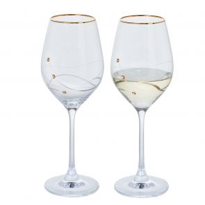 Glitz Gold Wine Glasses