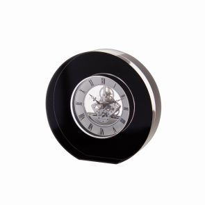 Black Round Crystal Clock