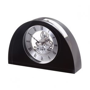 Black Half Moon Clock