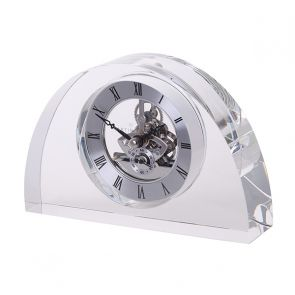 Clear Half Moon Clock
