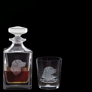 Engraved Labrador Decanter & One Engraved Labrador Tumbler