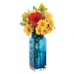Teal Large Marguerite Vase