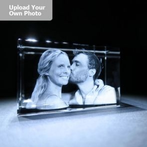 Large Laser Photo Gift Block - Rectangle (Free Text Engraving Available) - Standard delivery will be 3 working days.