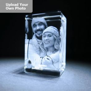 Large Laser Photo Gift Block - Tower (Free Text Engraving Available) - Standard delivery will be 3 working days.