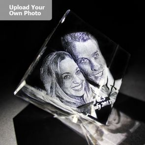 Medium Laser Photo Gift Block - Diamond (Free Text Engraving Available) - Standard delivery will be 3 working days.