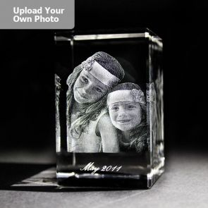 Medium Laser Photo Gift Block - Tower (Free Text Engraving Available) - Standard delivery will be 3 working days.