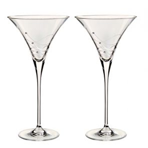 Glitz Martini Cocktail Glasses