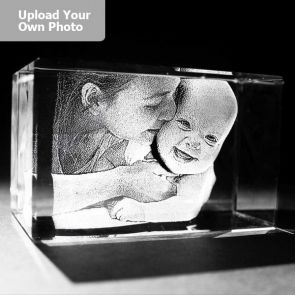 Medium Laser Photo Gift Block - Rectangle (Free Text Engraving Available) - Standard delivery will be 3 working days.