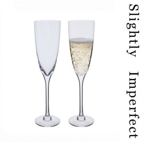 Rachael Champagne Flute Glasses - Slightly Imperfect