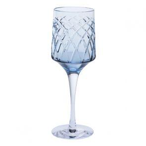 Harris Ink Blue Wine Glass