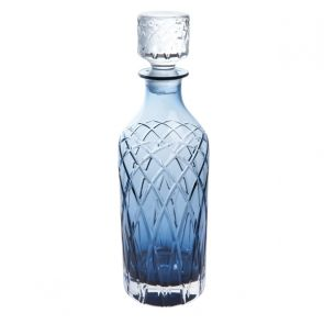 Harris Ink Blue Tall Spirit Decanter