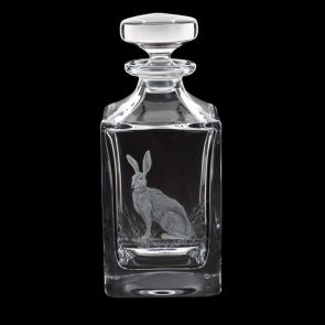 Engraved Hare Decanter