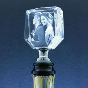 Rectangle Laser Photo Wine Stopper - Standard delivery will be 3 working days.