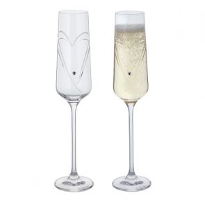 Glitz Romance Champagne Flutes