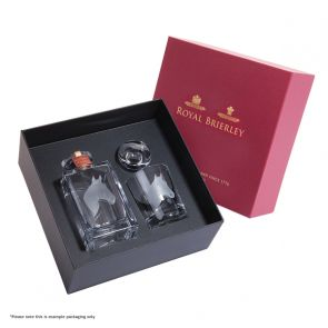 Engraved Horse Decanter & One Engraved Horse Tumbler