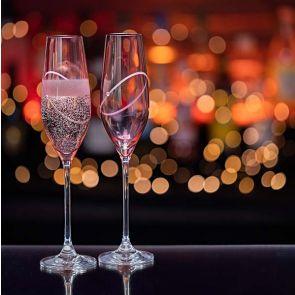 Glitz Celebration Flutes - Ruby (Pink)