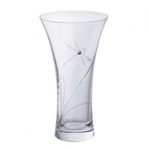 Medium Dragonfly Glitz Vase