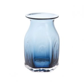 Finbarr Hexagonal Vase Ink Blue 16cm
